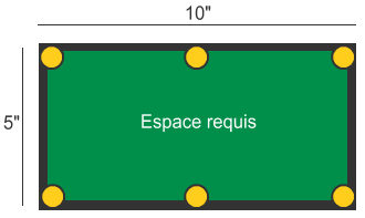 billard table dimensions. Black Bedroom Furniture Sets. Home Design Ideas